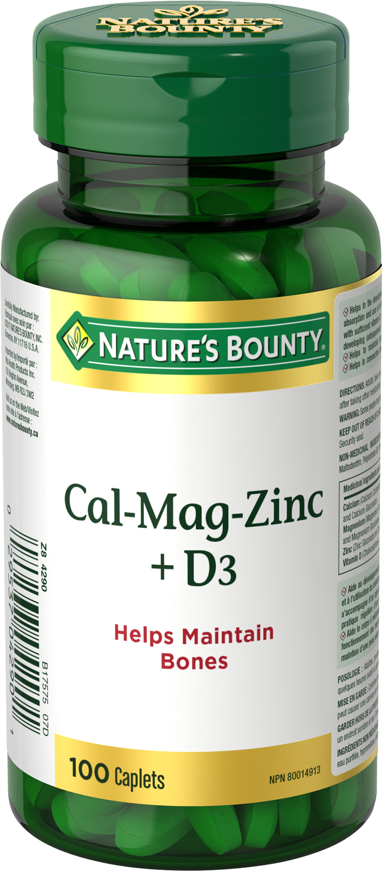 Calcium, Magnesium, Zinc with Vitamin D3