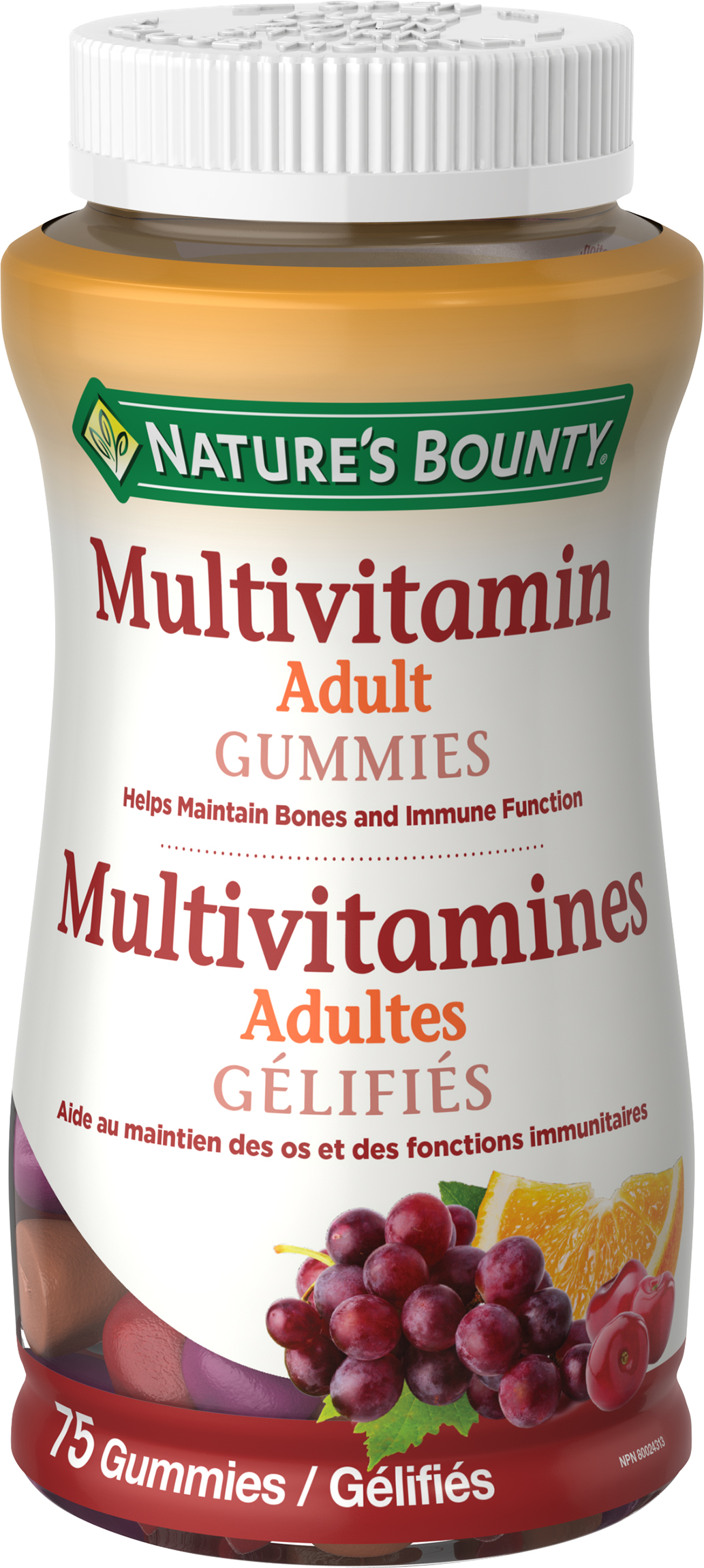 Gélifiés de Multivitamines
