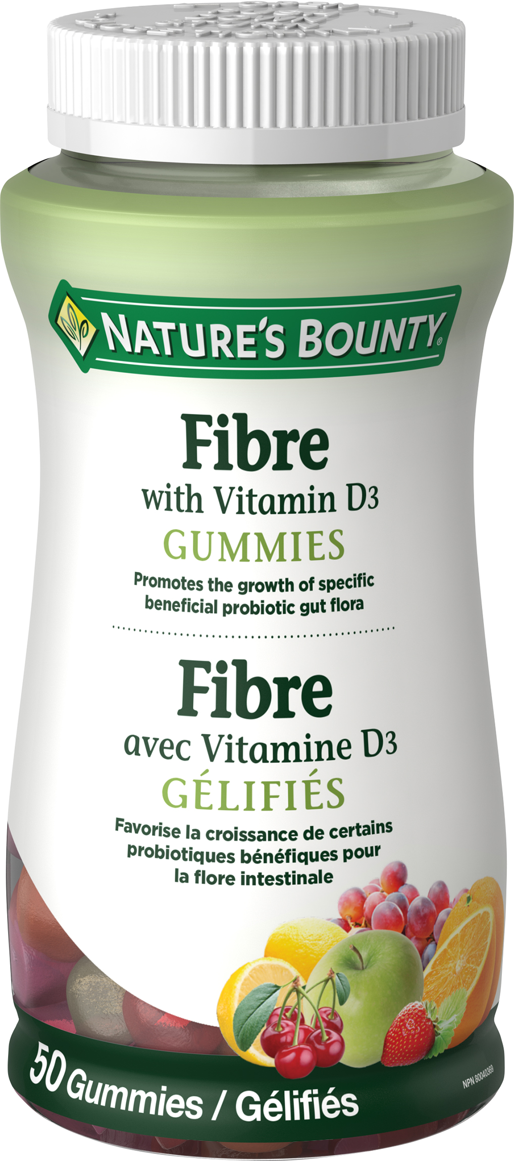 Fibre with Vitamin D3 Gummies